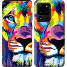 Чехол на Samsung Galaxy S20 Ultra Разноцветный лев 2713u-1831